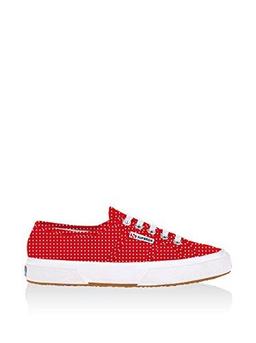 Superga - Zapatillas de deporte de lona para mujer Pois Red-White
