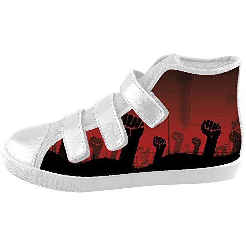 Custom Kid's Shoes Hand New Velcro High Top Canvas