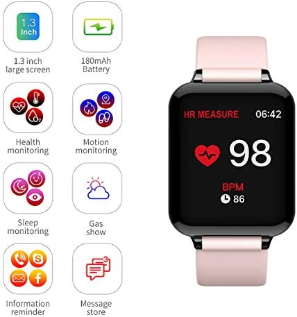 Smart Watch, Fitness Tracker for Android and iOS Phones with Heart Rate & Blood Pressure Monitor, Sleep Monitort, Information Reminder & Step Counter Waterproof Fitness Tracker for Men, Women and Kids 41C4Oc30N0L