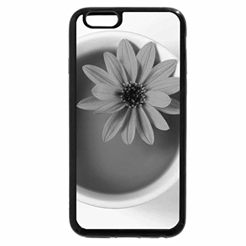 iPhone 6S Case, iPhone 6 Case (Black & White) - Pretty flower