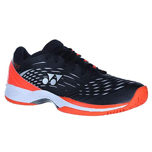 Yonex Power Cushion Fusion Rev 2 Clay Mens Tennis Shoe - Black/Orange - Size 13