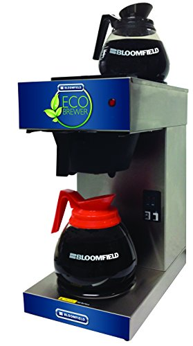 Bloomfield 4B-4543-D2-120V Two Warmer Low Profile Brewer, 13 3/4