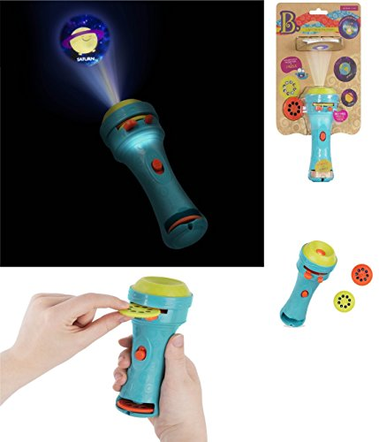B. Toys - LIGHT ME TO THE MOON Projector Flashlight - A User-Friendly Flashlight That Makes Everything Cosmic and Bright! - Harvey Light