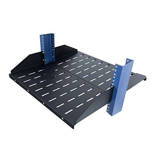 Cantilever 2U Vented Center Weighted Shelf - 2 Post Rack Shelves