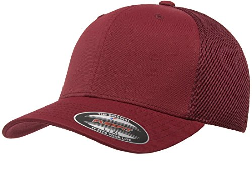 - Flexfit Men's Ultrafibre Airmesh Fitted Cap | Stretch Fit Ballcap w/Hat Liner Maroon