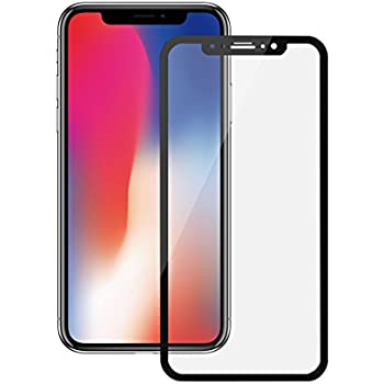 iPhone X Screen Protector, Yoobao Tempered Glass Screen Protector 3D 9H Full Coverage HD Anti-Scratch Anti-Fingerprint Glass Protection Film for Apple 5.8 inch iPhone X/iPhone 10 (2017) - Black