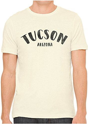 - Austin Ink Apparel Unisex Fine Jersey City of Tucson Arizona Print Soft T-Shirt (Soft Cream, L)