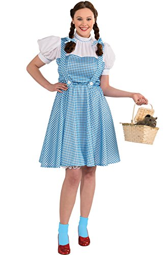 Rubie's Costume Plus-Size Wizard Of Oz, Deluxe Dorothy, Blue/White, OneSize (Womens Wizard Costumes)