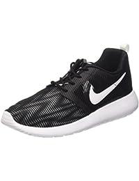 72a32dde797a32 705485-005  Rosherun One Flight Weight BLACK WHITE Sneakers for Gradeschool