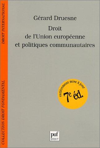 Droit de l'union europeenne (7e ed.) PDF
