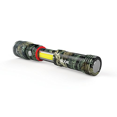 3 Pack Nebo Slyde King 330 Lumen USB rechargeable LED flashlight/Worklight CAMO 6643, rechargeable Li-ion battery with EdisonBright USB charger bundle by EdisonBright (Image #6)