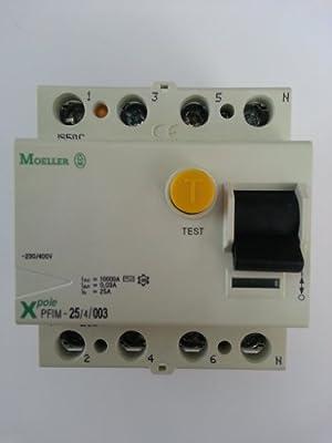 EATON PFIM-25/4/003-MW Interruptor Diferencial PFIM, 4P, 25A, 30 mAh, Caja de 3: Amazon.es: Industria, empresas y ciencia