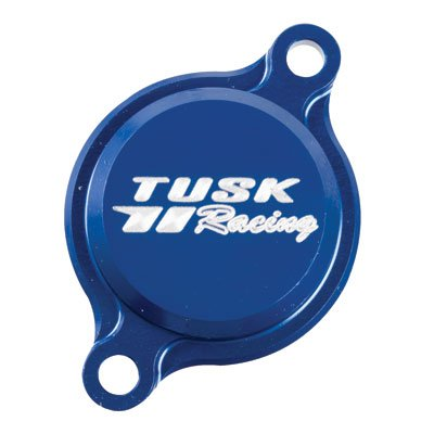 Tusk Aluminum Oil Filter Cover Blue - Fits: Yamaha YZ450F 2010-2018 by Tusk