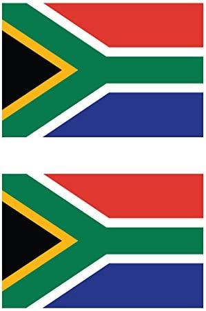 Two Pack South African Flag Sticker FA Graphix Decal Self Adhesive Vinyl South Africa