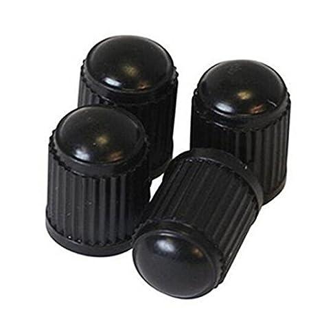 MM-Bikes-USA Schrader [Qty: 1] Set of 4 Black Plastic Wheel Valve Caps - Smiley Black Cap