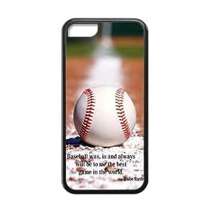 Sunbeam DIY Baseball Custom Case Cover For iPhone 5c(Laser Technology)