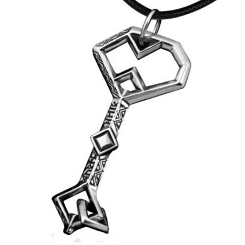 LOTR Hobbit Oakenshield Treasure Key Pendant on Black Leather Cord – LOTR