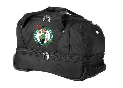 nba-boston-celtics-denco-22-inch-drop-bottom-rolling-duffel-luggage-black