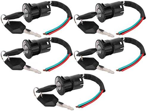 Voeding Lock Elektrische Fiets Voeding Lock Elektrische Scooter Voeding Lock met Twee Sleutels Professionele voor Elektrische Fiets
