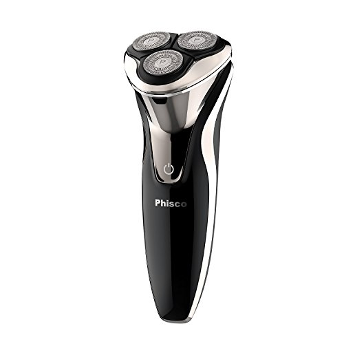 Phisco Electric Shaver Razor for Men 2 in 1 Beard Trimmer Wet Dry Waterproof Mens Rotary Shaver USB Quick Rechargeable Shaving Razor - Best Gift for Dad, Boyfriend