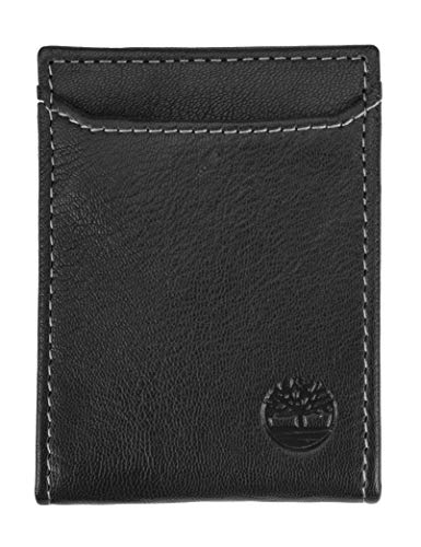 Timberland Men's Blix Minimalist Slim Money Clip Wallet, Black, One Size