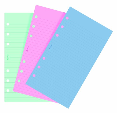 - filofax 130507 Personal Fashion Coloured Ruled Notepaper 30 Assorted Sheets
