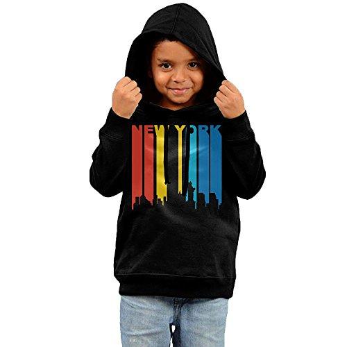 Retro 1970s New York City Skyline Cotton Pullover Hoodie Sweatshirts For Unisex Children's (70s Pullover)
