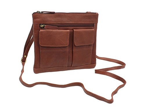cuero Visconti del Marrón de bolso Brown 18608A estilo 66Ewqfca
