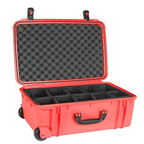 Seahorse 920D Protective Hard Case with Adjustable Divider Tray (Neon Orange)