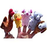 Homgaty 5 Pcs Red Hen Finger Puppets Story Telling Nursery Fairy Tale The Perfect Birthday, Christmas Gift