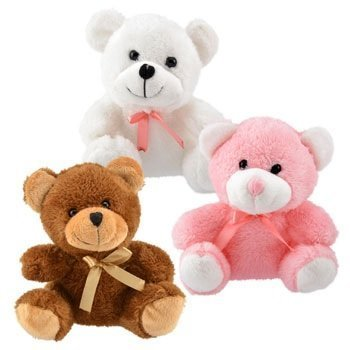 Super-Soft Plush Teddy Bears, 6.5 in (3 Pk)