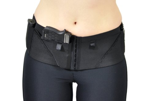 Can Can Concealment Hip Hugger Classic Woman's Holster - Black