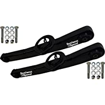NEW 59-64 CHEVY LOWER REAR TRAILING ARM SET, BLACK POWDER-COATED ARMS 1959 1960 1961 1962 1963 1964 CHEVY IMPALA BEL AIR BISCAYNE BROOKWOOD EL CAMINO KINGSWOOD NOMAD PARKWOOD SEDAN DELIVERY CHEVROLET