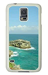 protective Samsung Galaxy S5 covers Water Rocks PC White Custom Samsung Galaxy S5 Case Cover