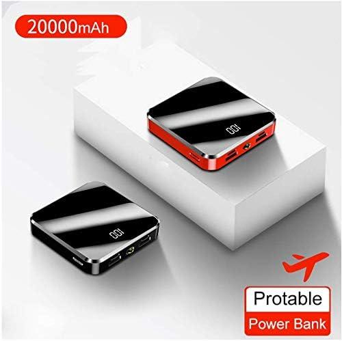 20000mAh Black Large-Capacity Fashion Mini Power Bank