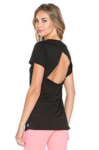 Trina Turk Recreation Women's Draped Cut Out Back Jersey Tee Shirt Black - 90s Blog