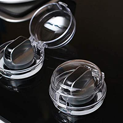 Oopsu 5 PCS New Care Baby Child Safety?Kitchen Stove Knob Covers?Oven Knob Covers?Clear View Stove Knob Covers?Suit for Small Gas Knob?Baby Child Toddler Kitchen Safety