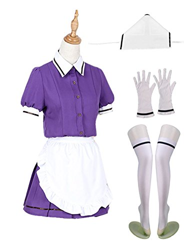 Wish Costume Shop Blend-S Anime Uniforms Cosplay Costumes Full Set (M, Purple)