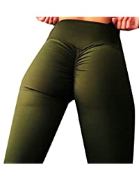 OTW Women Solid Activewear Butt Lift High Waist Leotard Yoga Leggings Pants