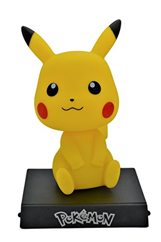 Pikachu Pokemon PVC Bobble-Head Figure Car Accessories Dashboard Office Home Ultra Detail Doll - Bobble Doll Collectible