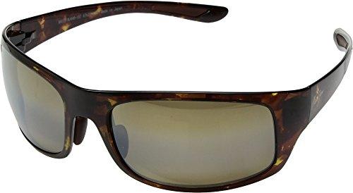 Maui Jim Unisex Big Wave Olive Tortoise/Hcl Bronze One - Sunshine Jim Sunglasses Maui
