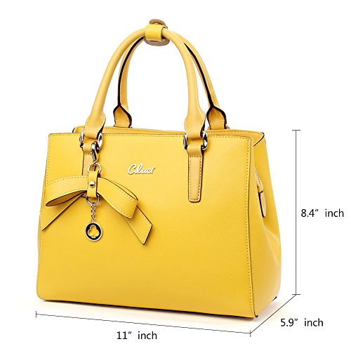 Handbags 3 Cluci Tote Purse Fashion Leather yellow Shoulder Women Bag Crossbody Ladies Designer for Genuine wCgqfCSFI