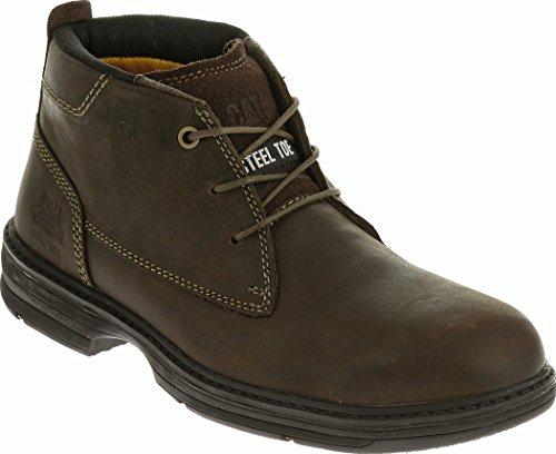 Caterpillar Inherit Mid Steel Toe Work Boot Men 11 Brown ()