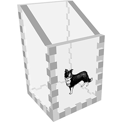 Mini 'Border Collie Sheepdog' Clear Desk Tidy / Pencil Holder (DT00050248)