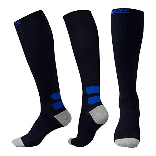 Compression Socks (20-30 mmHg) - REINFORCED TOE & HEEL - Best for Men & Women, Running, Nurses, Flight Travel, Maternity Pregnancy, Circulation & Recovery (1 Pair)