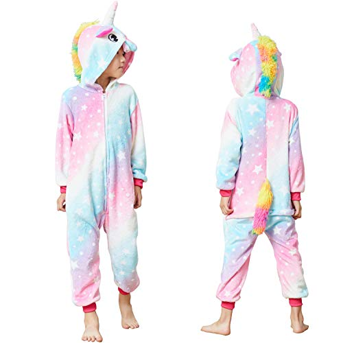 Kids Unisex Unicorn Costume Animal Onesie Pajamas Halloween