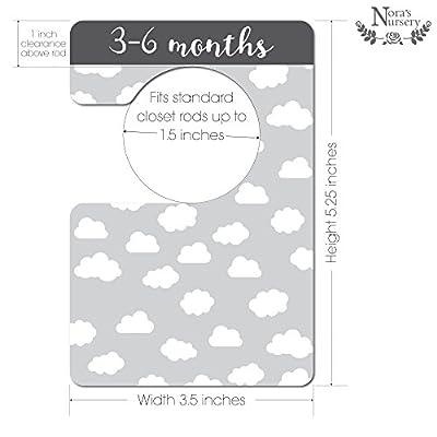 Modern Black & White Unisex Nursery Closet Dividers, Closet Organizer, Nursery Decor & Baby Gift