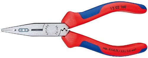 Knipex - 4 IN 1 Electrician Pliers-AWG 14,16,20-Comfort Grip - 13-02-160 ()