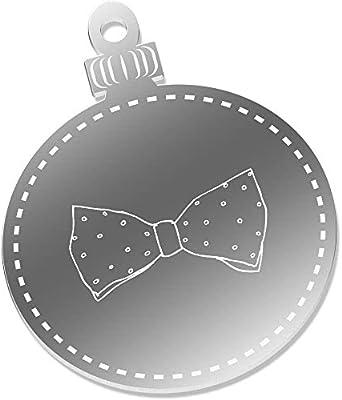 Azeeda 2 x 75mm Corbata de Moño Espejo Decoraciones de Navidad ...
