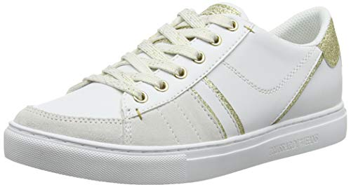 white Jeans Blanco Sneakers De Para Trussardi W007 Mujer gold Zapatillas Gimnasia TZqx8